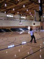 Shooting Hoops in the Gym